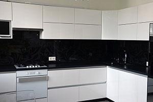 Цветочные для скинали в интерьере кухни - 22279