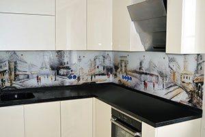 Париж для скинали в интерьере кухни - 22332