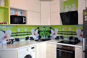 Камни СПА для скинали в интерьере кухни - 22361