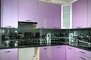 Скинали для фиолетовой и сиреневой кухни  - 22233