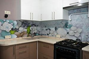 Графические для скинали в интерьере кухни - 22241