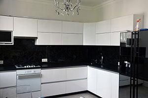Цветочные для скинали в интерьере кухни - 22247